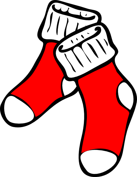 462x596 Red Socks Clip Art