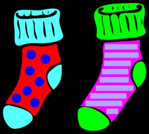 300x270 Socks Clip Art