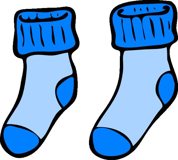 600x539 Blue Socks Clip Art