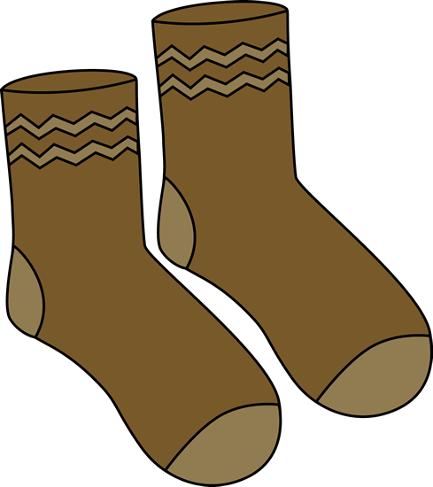 489x550 Brown Pair Of Socks Clip Art
