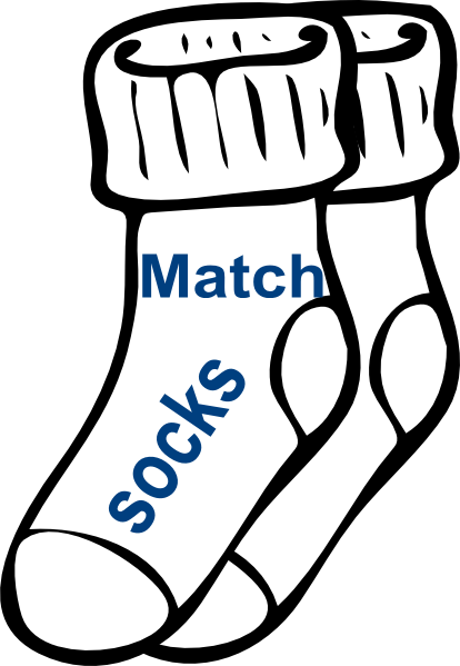 414x599 Chore Match Socks Clip Art