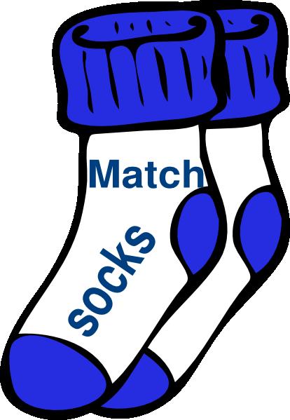 414x599 Chores Blue Match Socks Clip Art