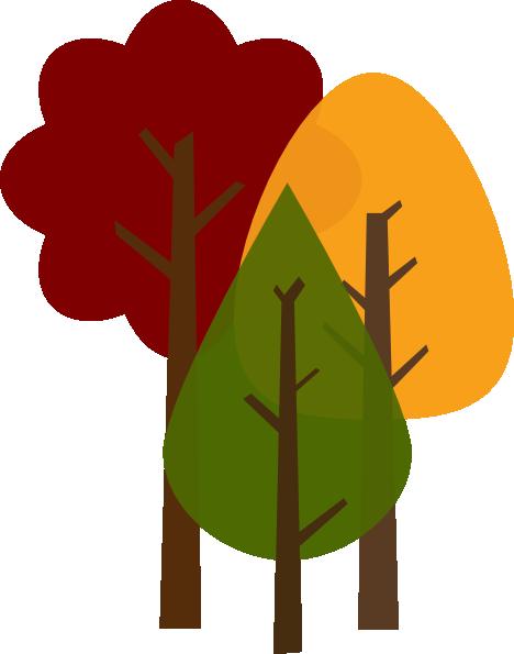 468x595 Fall Trees Clip Art