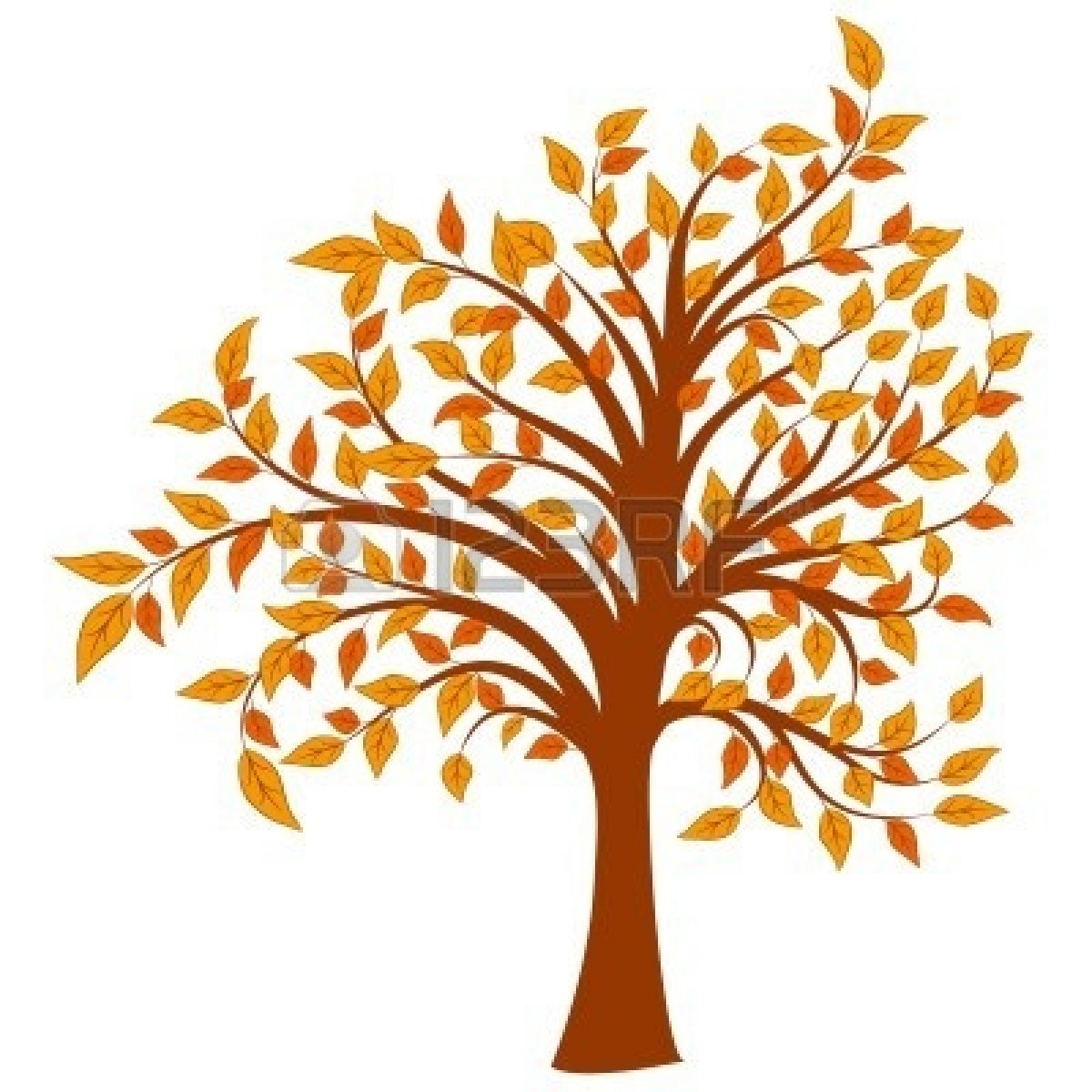 1200x1200 Fall Trees Clipart