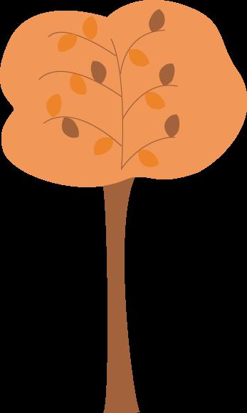 347x580 Orange Autumn Tree Clip Art