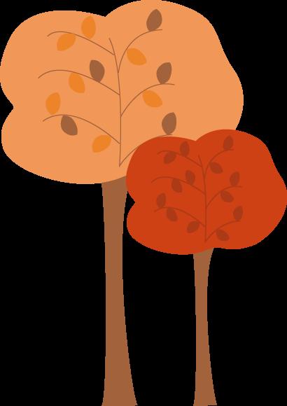 410x580 Rustic Fall Trees Clip Art