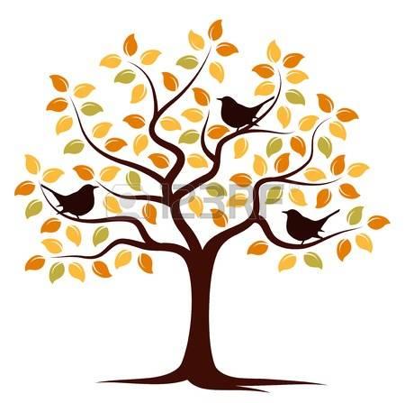 450x447 Fall Tree Free Clipart