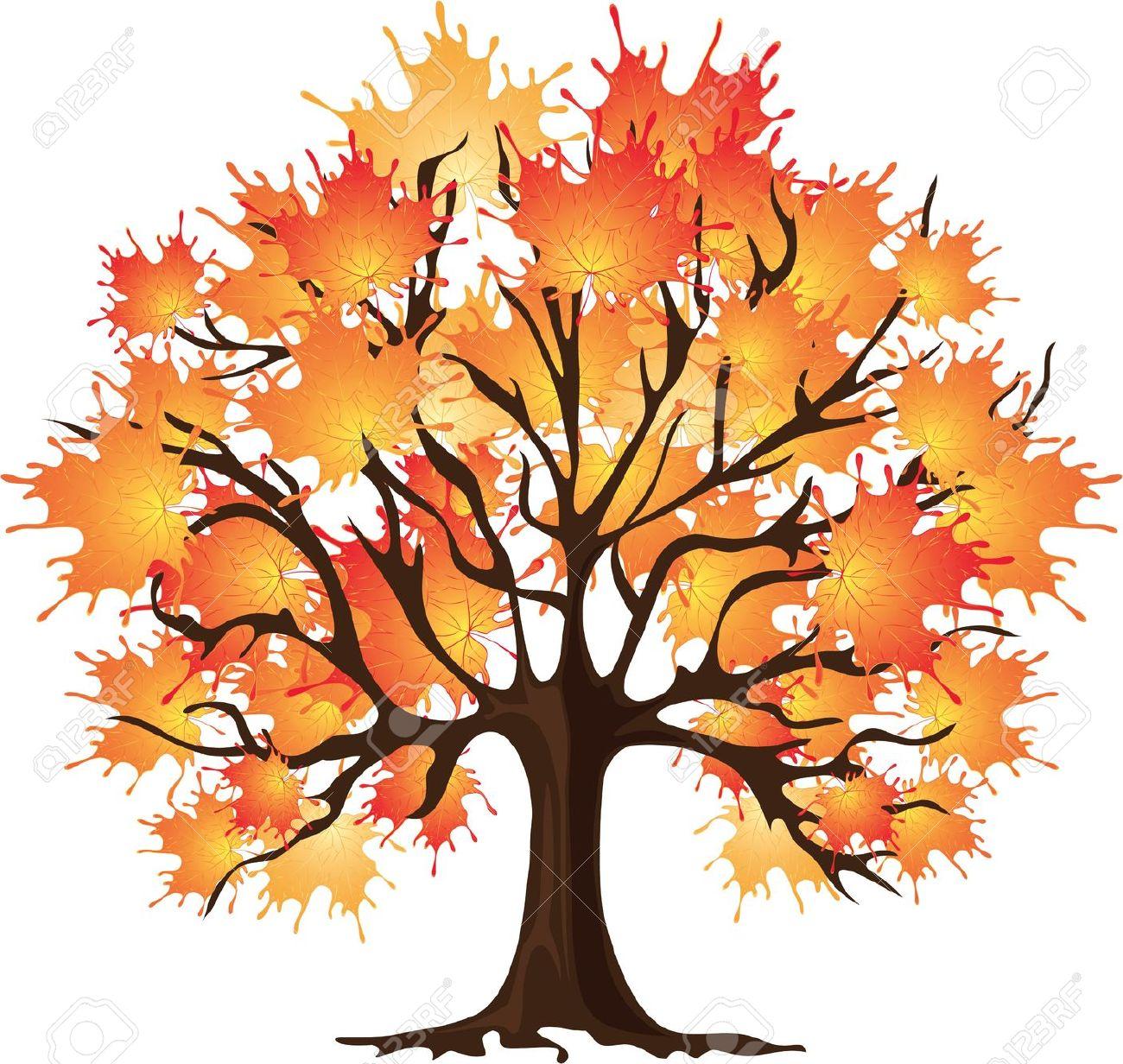 1300x1232 Realistic Fall Tree Drawing