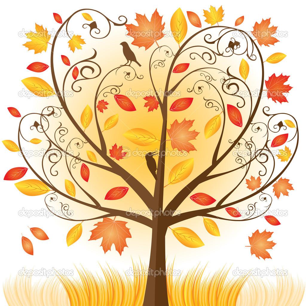 1024x1024 Beautiful Autumn Tree Clip Art, Fall Tree Color Cartoons Http