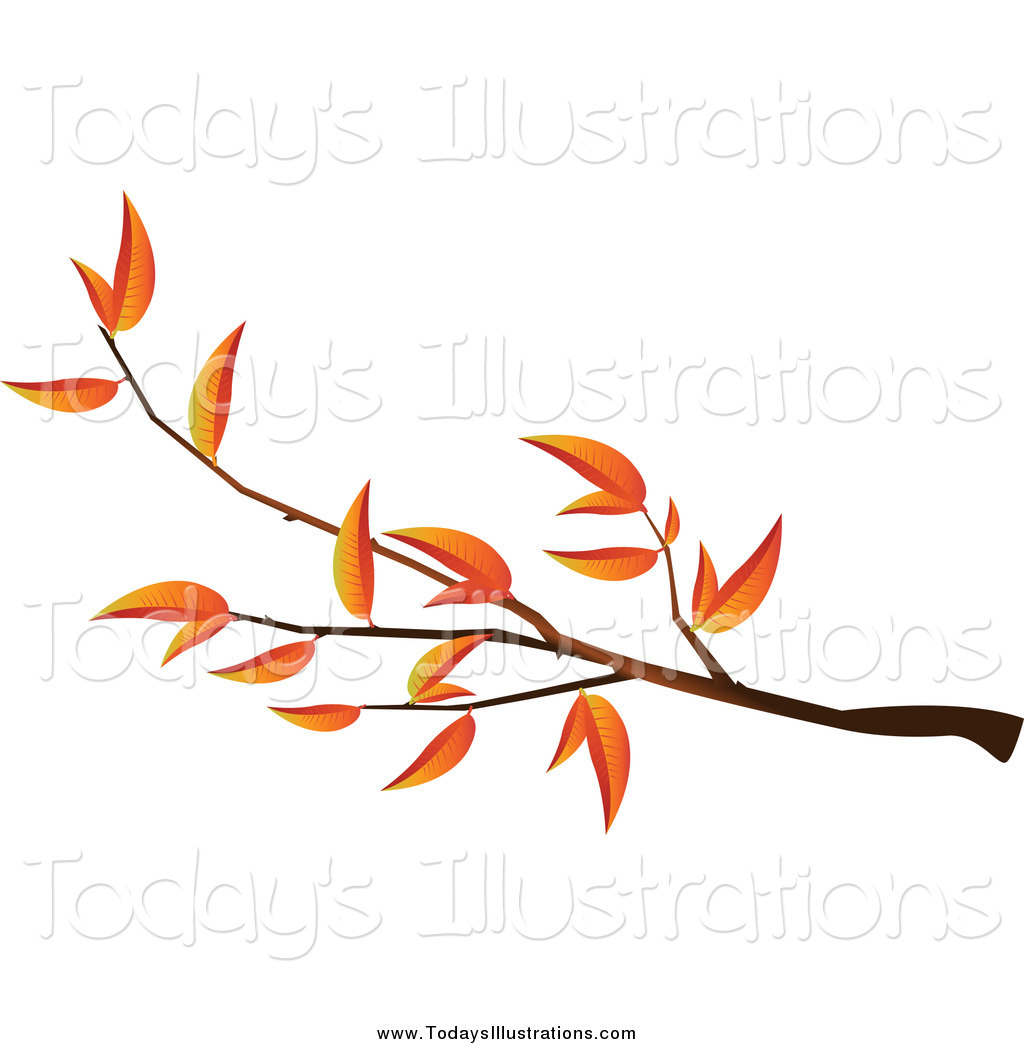 1024x1044 Clipart Of An Autumn Tree Branch By Creativeapril