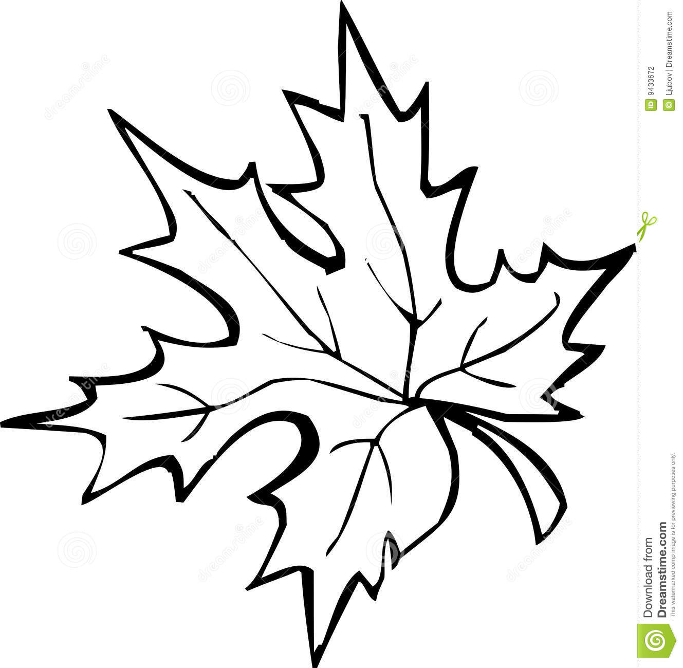 1329x1300 leaf black and white fall clipart