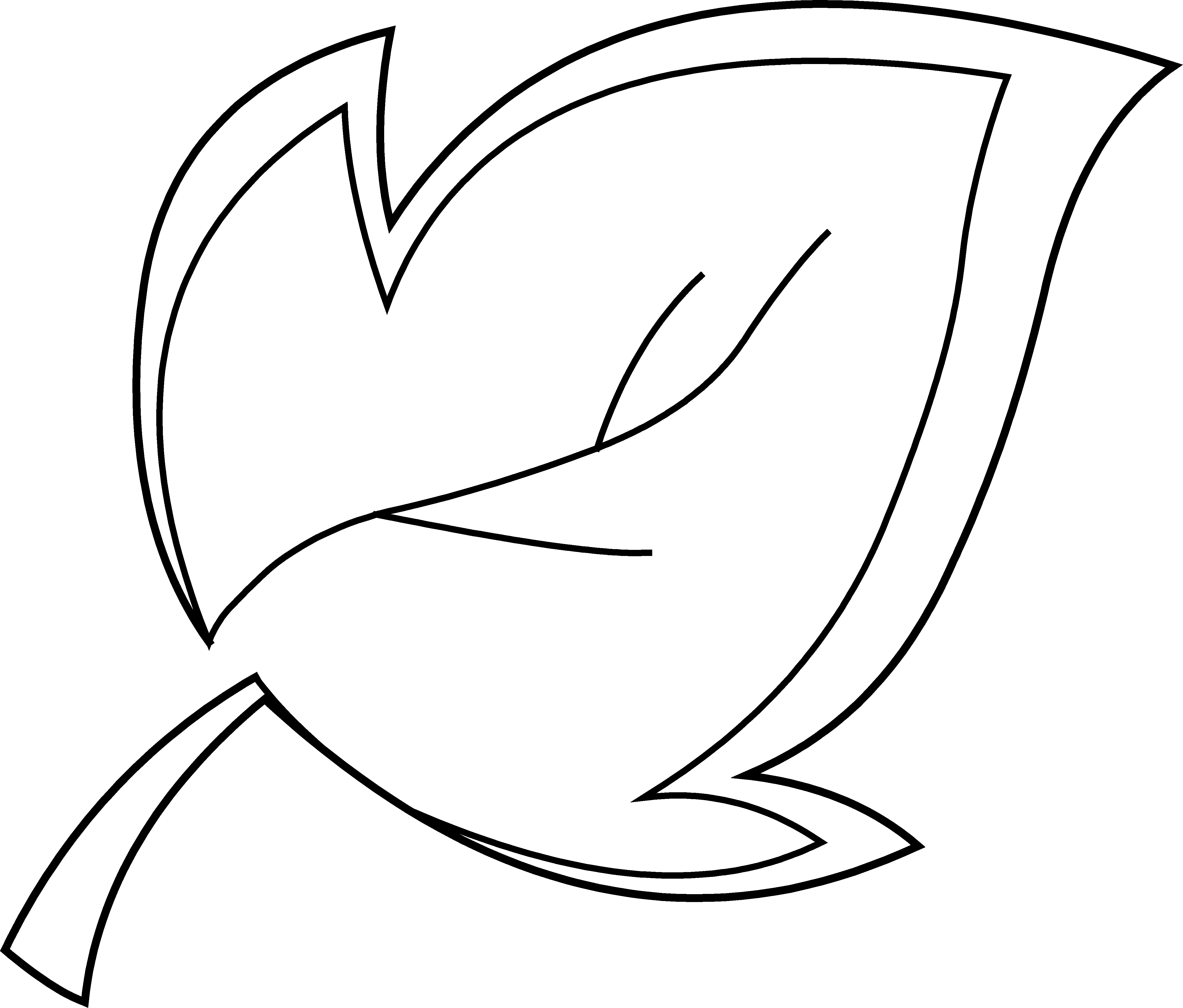 4656x3967 Tree Leaf Coloring Page