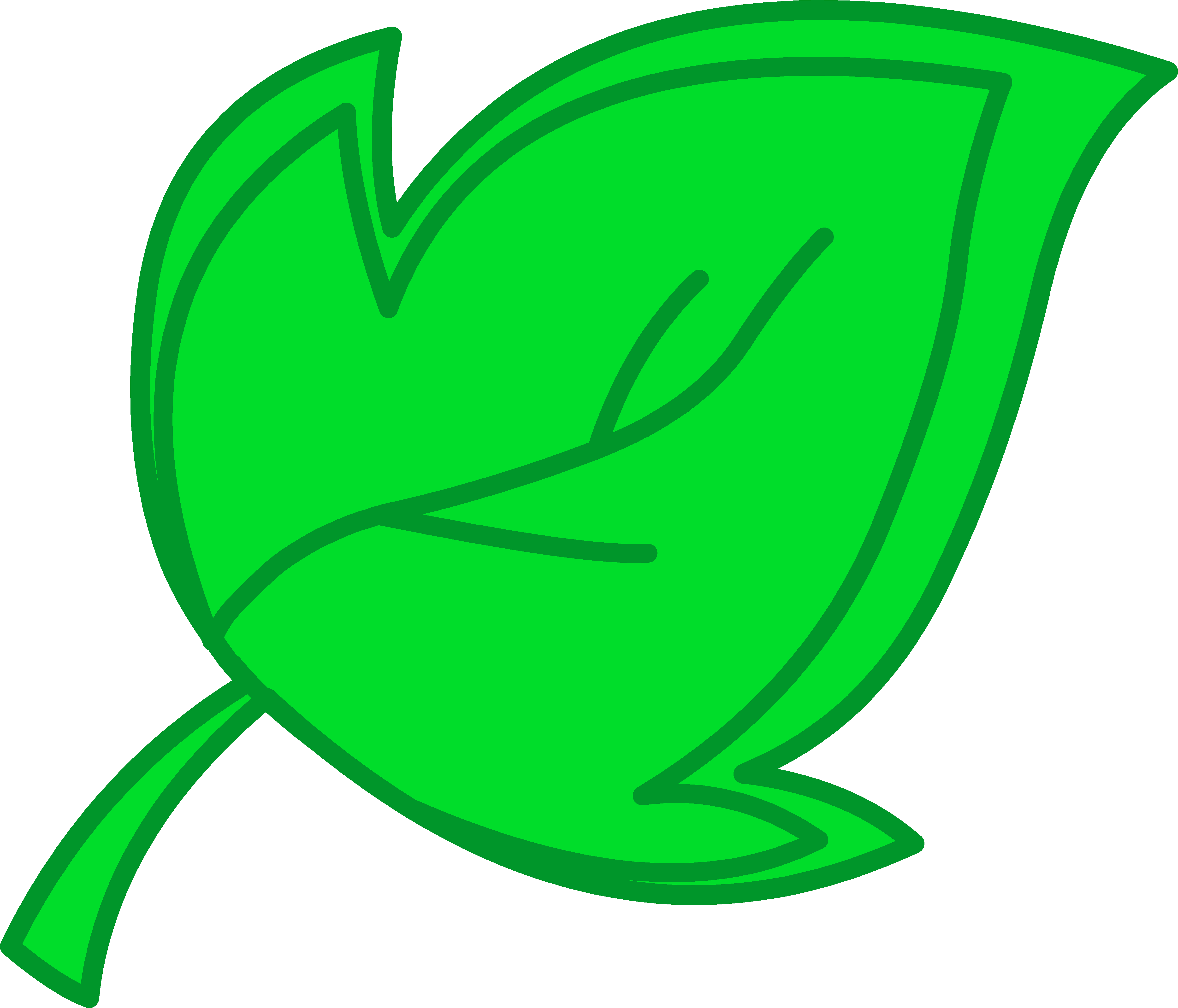 4911x4204 Green Tree Leaf Clipart