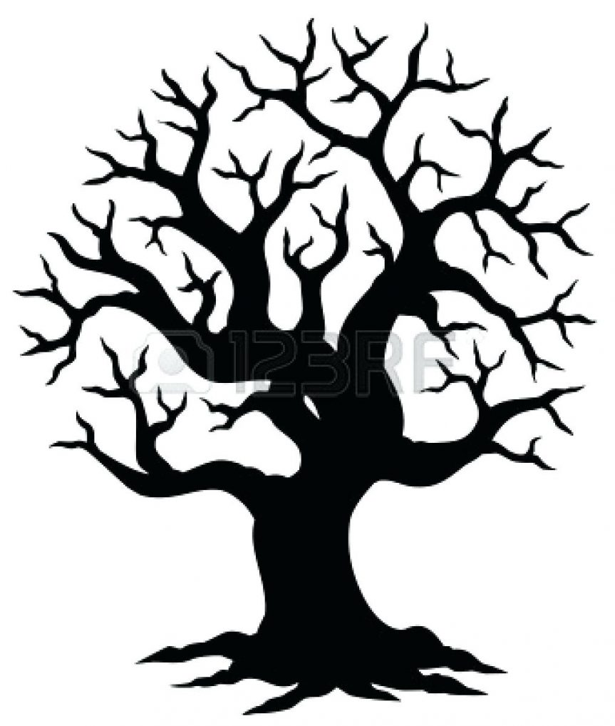 863x1018 Clip Art Family Tree Outline Library Free Images Autumn Printable