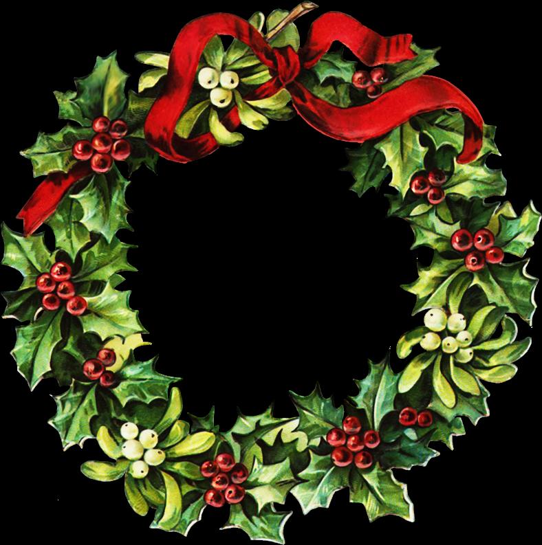 788x793 Christmas Wreath Border Clipart Kid 4