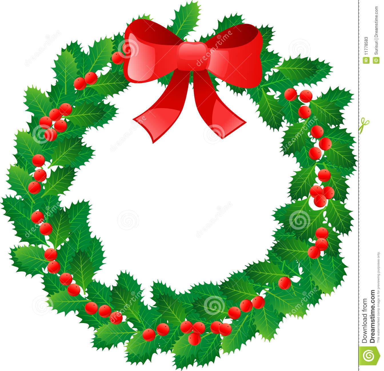 1344x1300 Color Christmas Wreath Clip Art Merry Christmas Amp Happy New Year