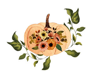 340x270 Fall Clipart Hand Painted Fall Clipart Thanksgiving Clipart