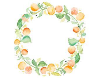 340x270 Orange Wreath Etsy