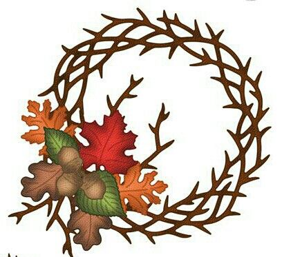 Fall Wreath Clipart | Free download on ClipArtMag