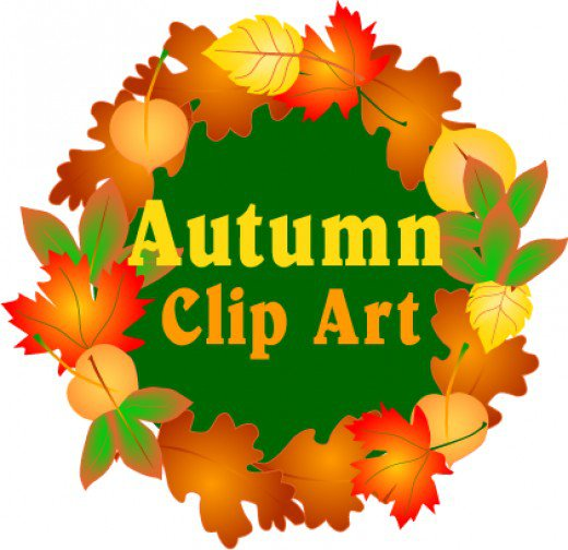 520x504 Fall Color Leaf Wreath Clipart