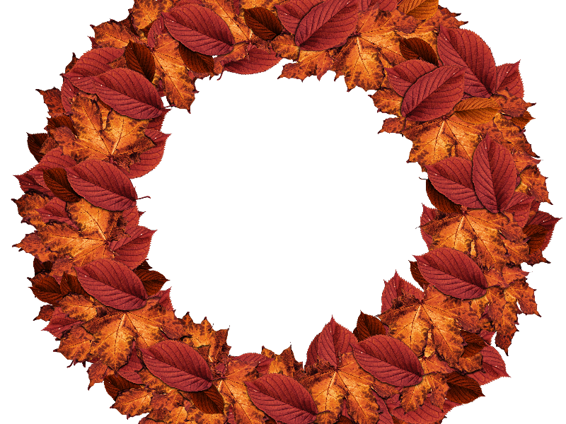 800x600 Autumn Leaves Fall Wreath Png (Nature Grass And Foliage