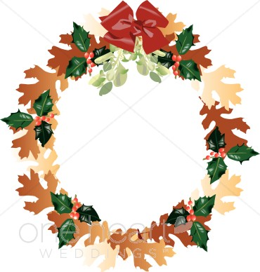 370x388 Autumn Wreath Clipart Wedding Wreath Clipart