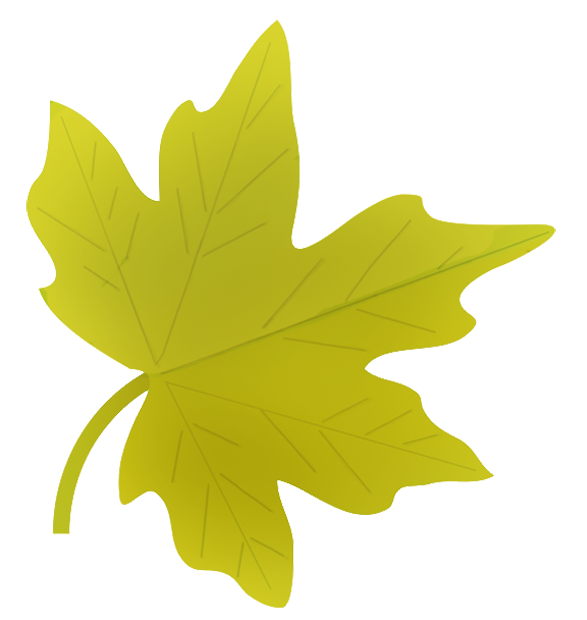 587x620 Green Clipart Falling Leaves