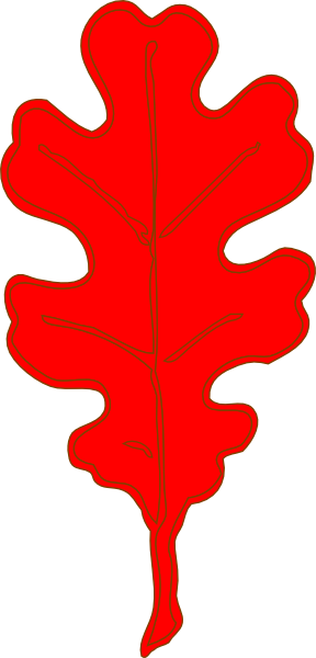 288x600 Red Leaf Clipart