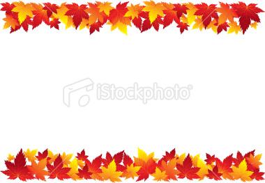 380x263 Autumn Border Clipart
