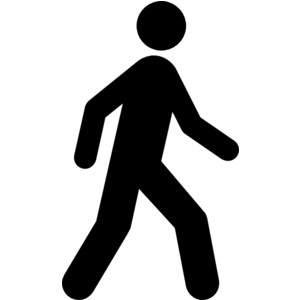 300x300 Man Falling With Walker Clipart