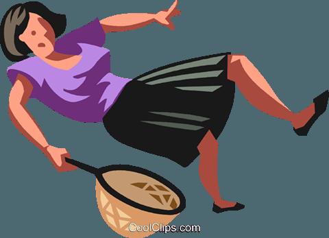 480x347 Woman Falling Royalty Free Vector Clip Art Illustration Vc103499
