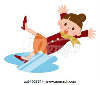 350x300 Clipart Of Woman Falling