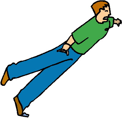 398x385 Clipart Person Falling