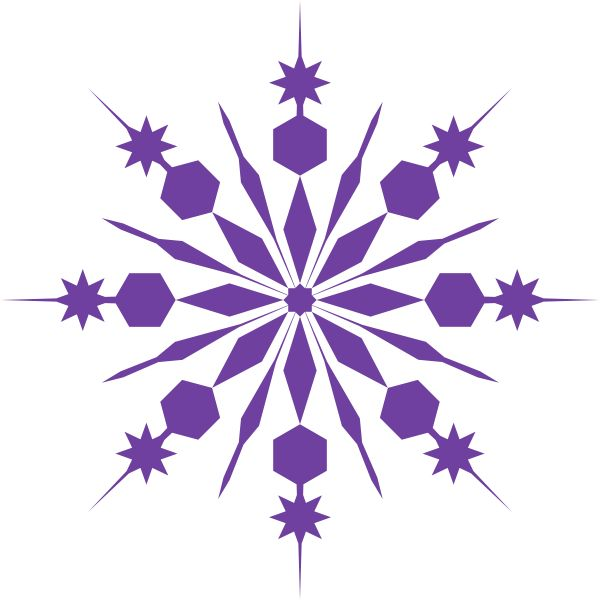 Falling Snowflake Clipart