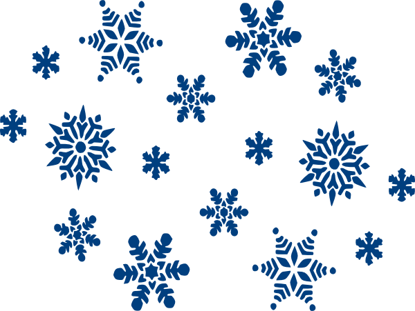 600x451 Blue Snowflakes Clip Art