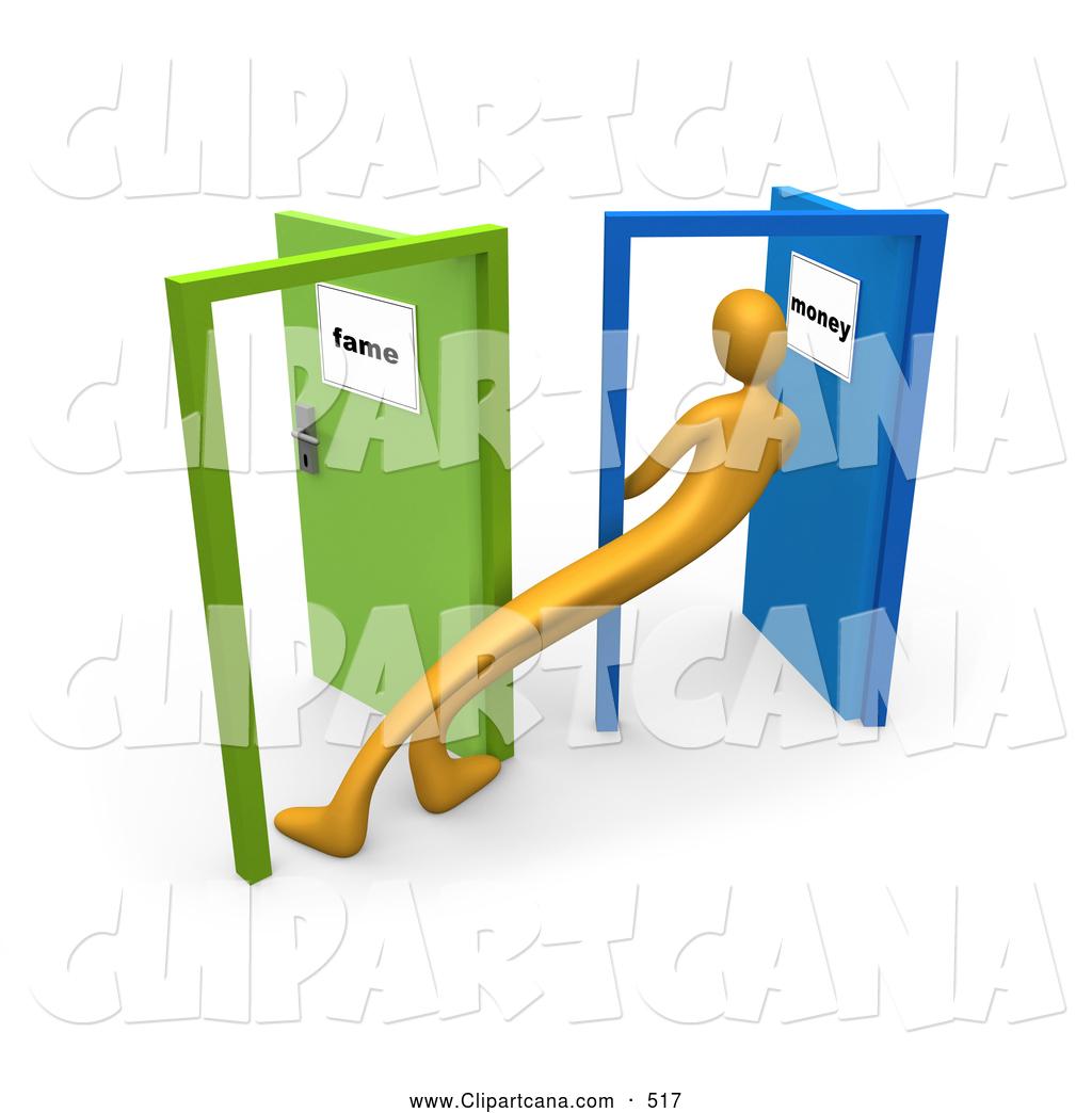 1024x1044 Clip Art Of A Long Uncertain Orange Person Standing In The Doorway