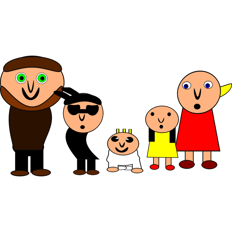 800x800 Picture Of A Cartoon Family
