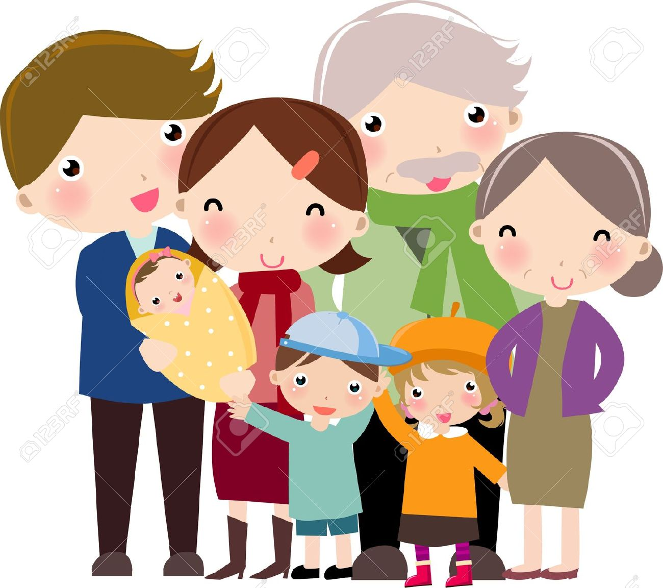1300x1152 Animated Family Clipart