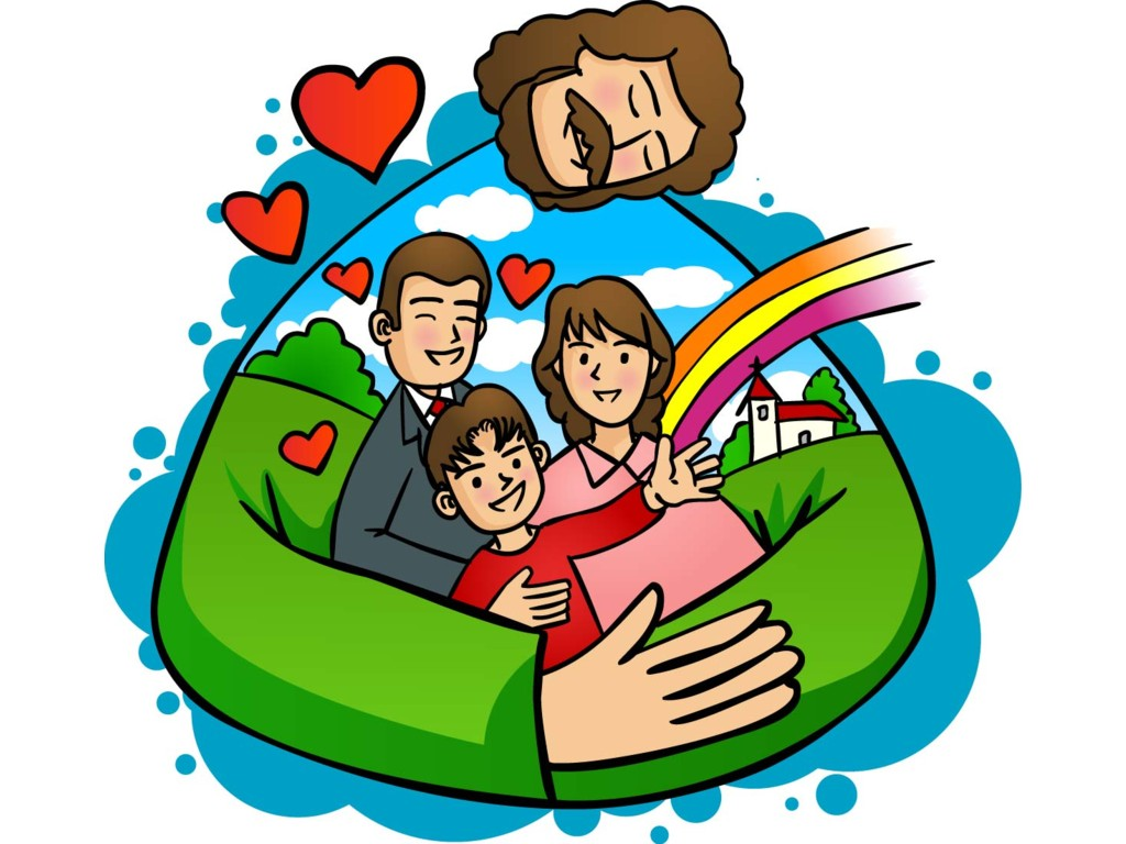 1024x768 Animated Family Clipart