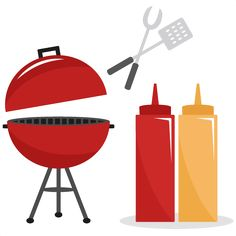 236x236 Clip Art Outdoor Bbq Cookout Digital Clip Art, Barbeque Clip Art