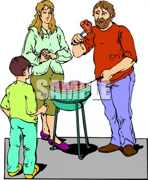 289x350 Barbecue Clipart Family Bbq
