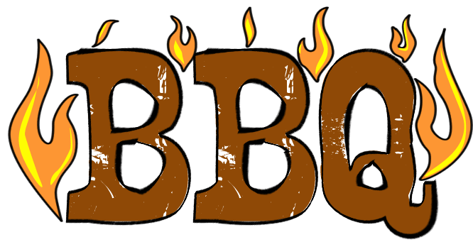 666x341 Barbecue Clipart Word