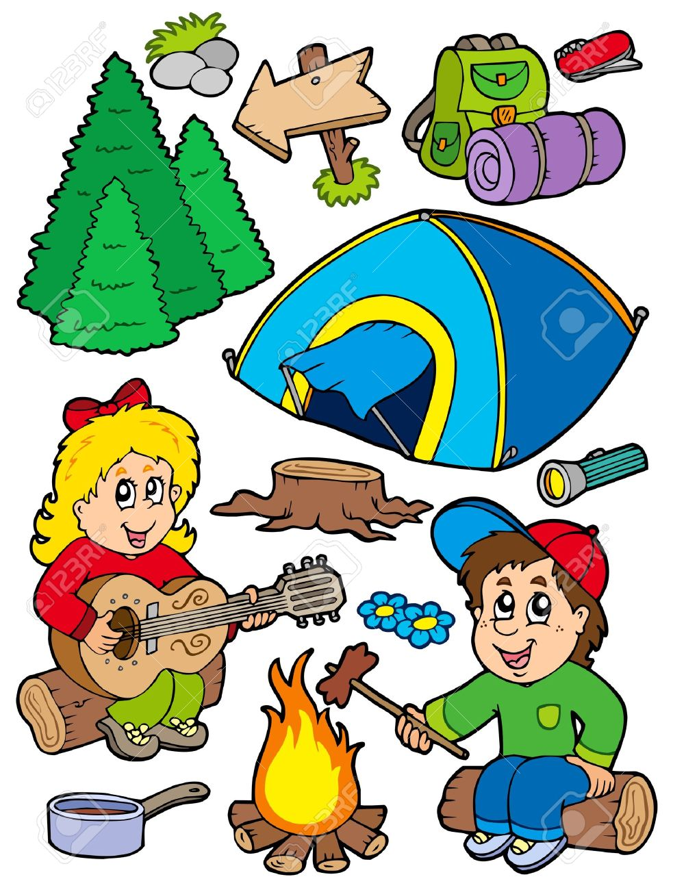 Family Camping Clipart | Free download best Family Camping ...