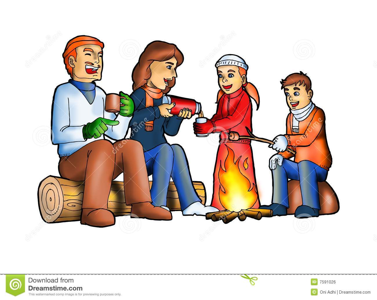 1300x1036 Camp Fire Clipart Family Camping