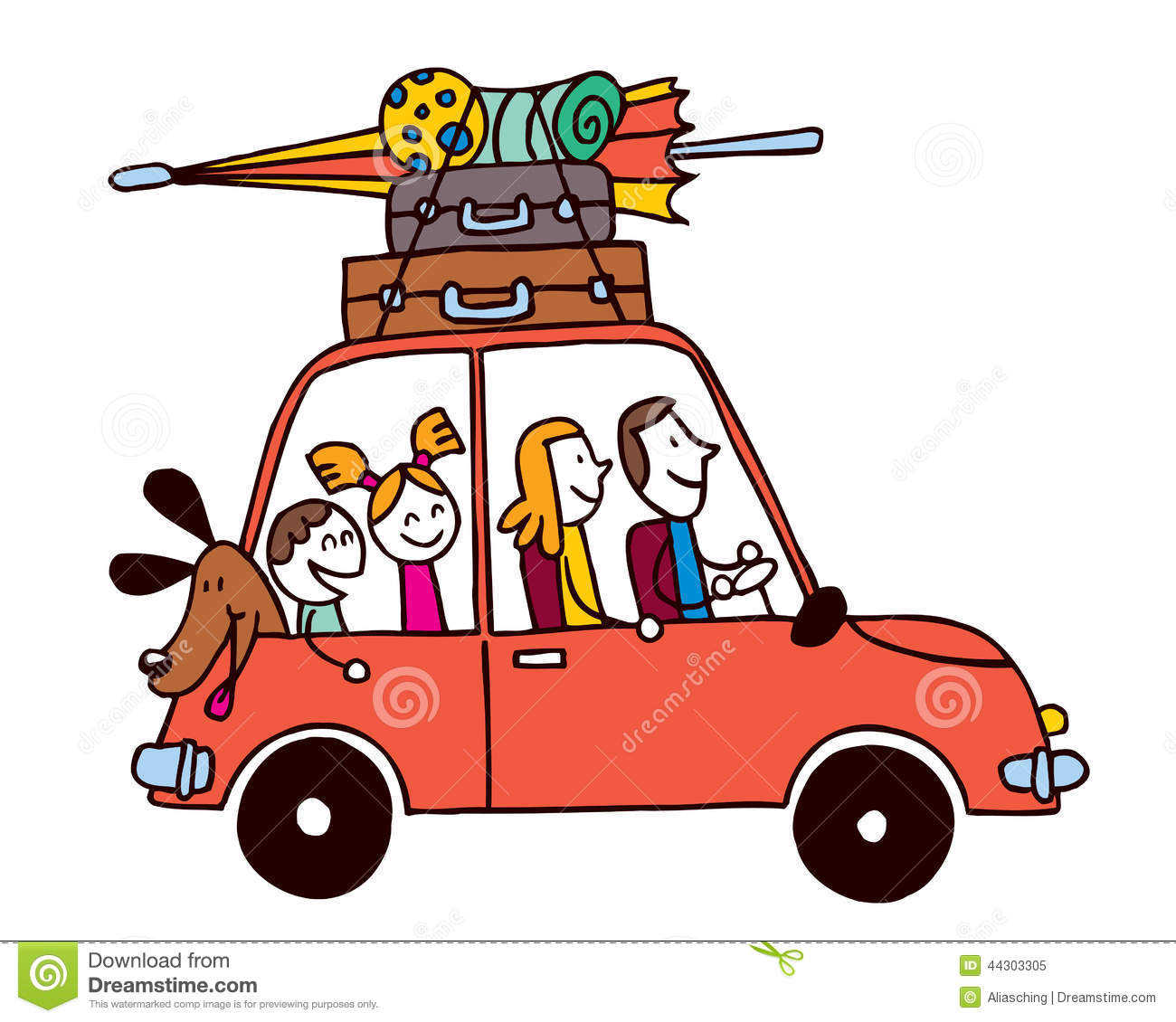 1300x1130 Vacation Clipart Family Car