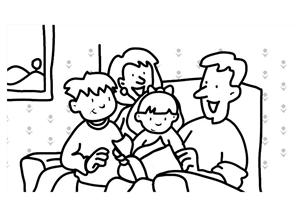 300x213 Family Clipart Black And White