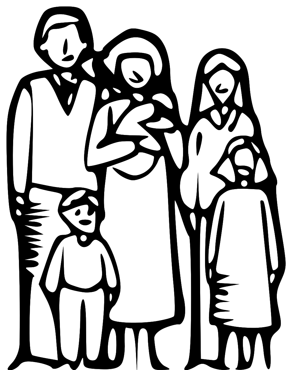 936x1209 Family Clipart Black And White