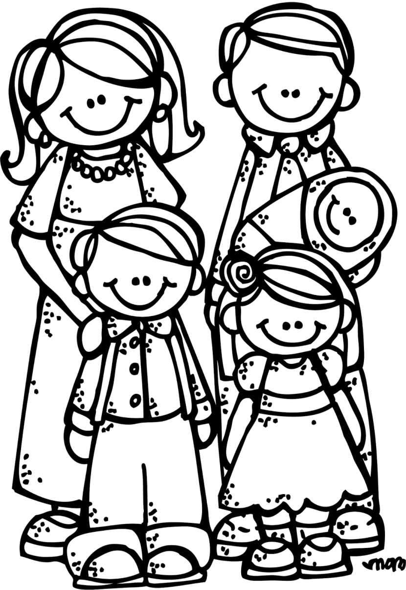 830x1206 Best Family Clipart Black And White