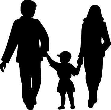 368x363 Family Black And White Family Clip Art Black And White Free