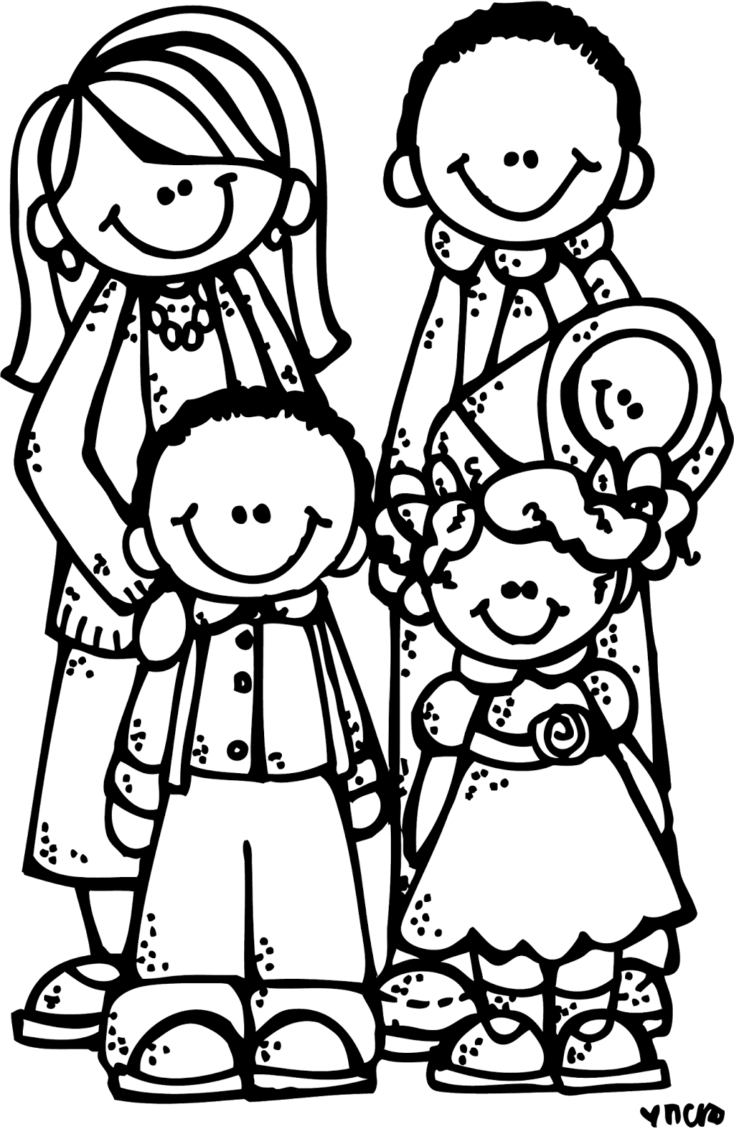 1031x1600 Family Black And White Family Clipart Black And White Clipartfest